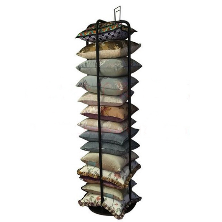 Retail pillow tower display stand